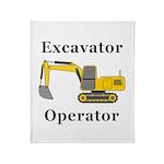 Excavator Operator Throw Blanket