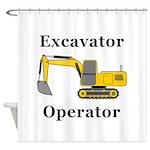 Excavator Operator Shower Curtain