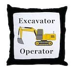 Excavator Operator Throw Pillow