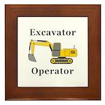 Excavator Operator Framed Tile