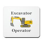Excavator Operator Mousepad