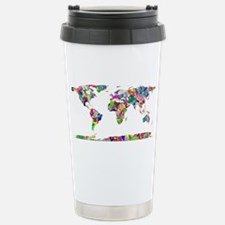 Pink world map Travel Mug