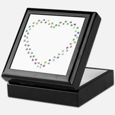 Cute Purple heart Keepsake Box