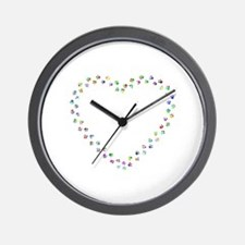 Funny Pink and green Wall Clock