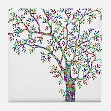Cool Purple tree Tile Coaster