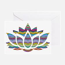 Unique White lotus Greeting Card