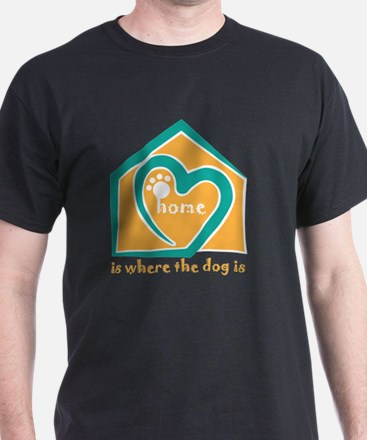 Unique Home is where the dog and kayak are T-Shirt