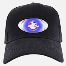 Red White and Blue Football Team Baseball Hat