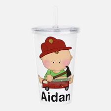 Aidan's Little Firefig Acrylic Double-wall Tumbler