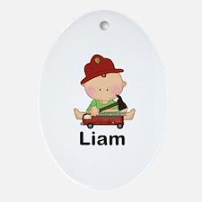 Laim's Little Firefighter Oval Ornament