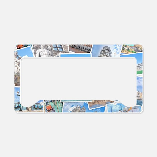 Italy Collage License Plate Holder