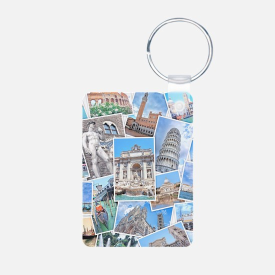 Italy Collage Keychains