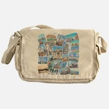 Italy Collage Messenger Bag