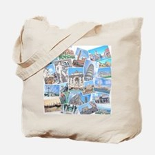 Italy Collage Tote Bag