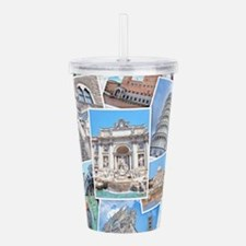Italy Collage Acrylic Double-wall Tumbler