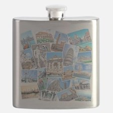 Italy Collage Flask