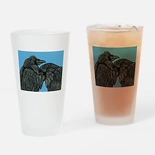 Raven Love Drinking Glass