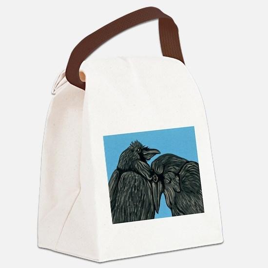 Raven Love Canvas Lunch Bag