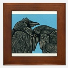 Raven Love Framed Tile
