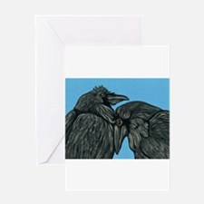 Raven Love Greeting Cards