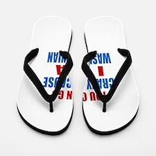 I Am Washingtonian Flip Flops