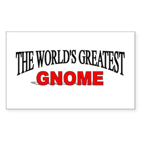 """The World's Greatest Gnome"" Rectangle Sticker"