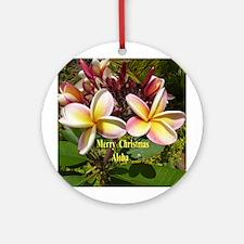 Plumeria Round Ornament
