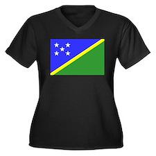 Solomon Islands Women's Plus Size V-Neck Dark T-Sh
