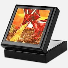 Cool Red dragon fire Keepsake Box