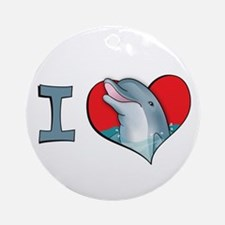 I heart dolphins Ornament (Round)