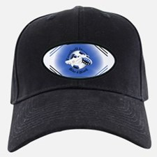 Blue and Black Football Soccer Baseball Hat