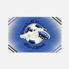 Blue and Black Football Soccer Magnets