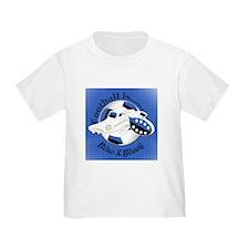 Blue and Black Football Soccer T-Shirt