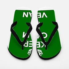 Keep Calm and GO VEGAN Flip Flops