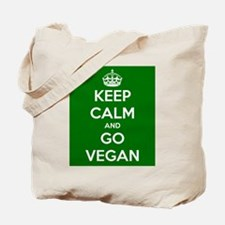 Keep Calm and GO VEGAN Tote Bag