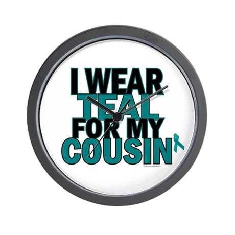 I Wear Teal For My Cousin 5 Wall Clock