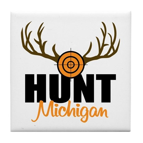 Hunt Michigan Tile Coaster