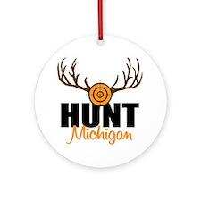 Hunt Michigan Ornament (Round)