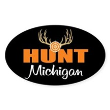 Hunt Michigan Oval Decal