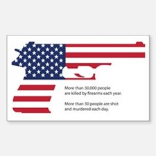 Cute Gun violence Sticker (Rectangle)