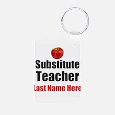 Substitute Teacher Keychains