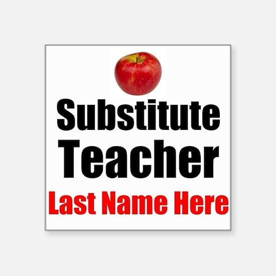 Substitute Teacher Sticker