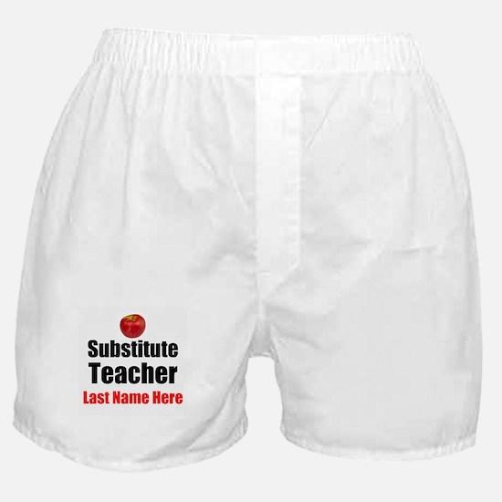 Substitute Teacher Boxer Shorts
