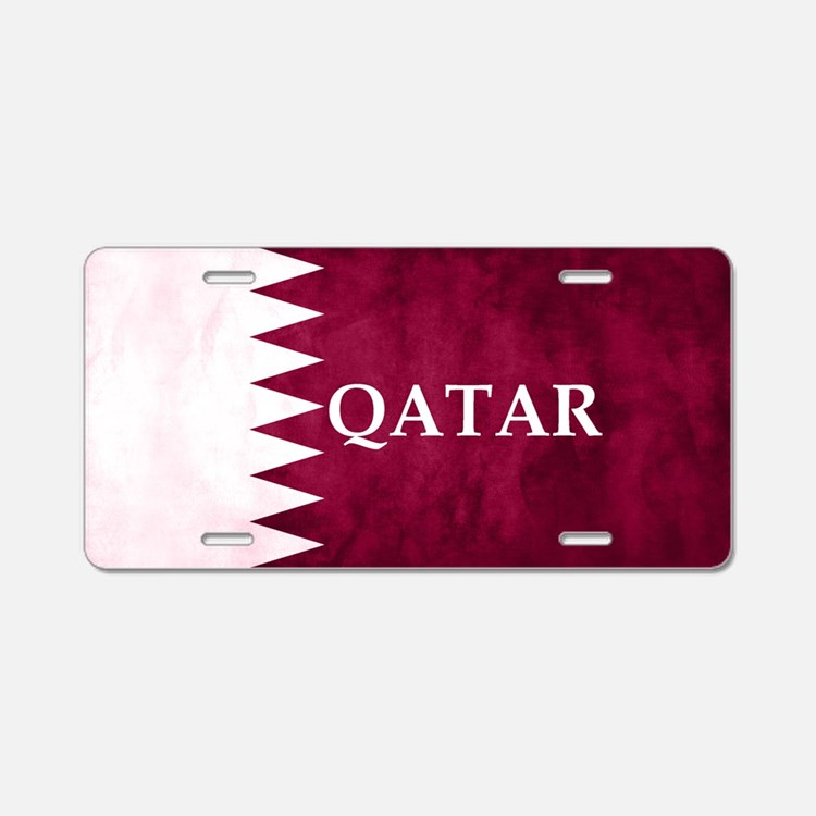 Cute Qatar Aluminum License Plate