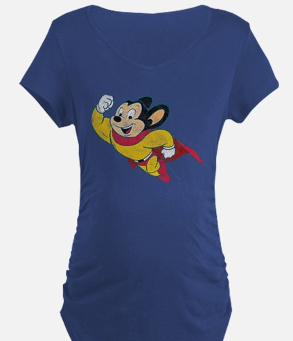 Vintage Mighty Mouse Dark Maternity T-Shirt