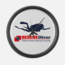 RESCUEDiver Large Wall Clock