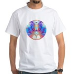 Cosmic Spiral 46 White T-Shirt