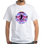 Cosmic Spiral 50 White T-Shirt