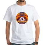 Cosmic Spiral 55 White T-Shirt