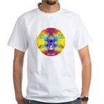 Cosmic Spiral 57 White T-Shirt
